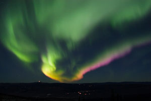colorful northern lights seen from Fairbanks, Alaska