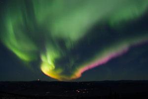 colorful northern lights seen from Fairbanks, Alaska